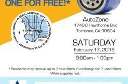 City of Torrance will be holding a used motor oil filter exchange event